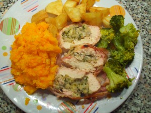 Stuffed Chicken Bread Recipe