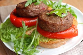 Healthy burger recipe